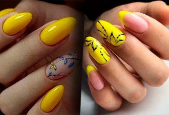 На встречу солнцу – яркий желтый маникюр как символ лета