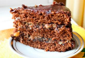 Чудесный домашний торт «Чернослив в шоколаде»
