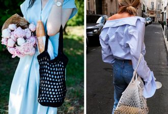 Модные сумки-авоськи крючком: схемы вязания