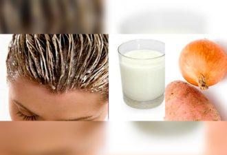 Как использовать лук и картофель для быстрого роста волос