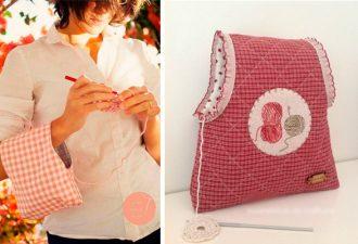 Удобная сумочка для вязальщицы