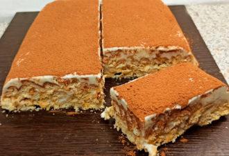 Нежный торт без выпечки