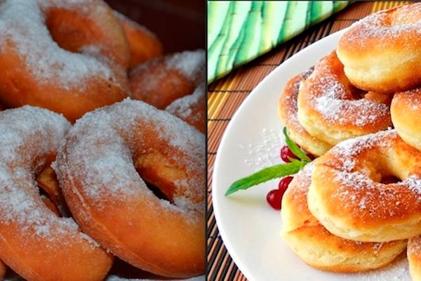 Кефирные пончики всего за 5 минут