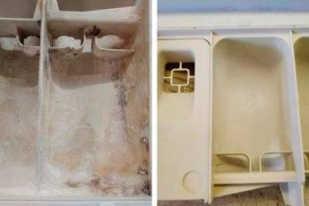 Рабочие трюки для чистоты: не сложный способ избавиться от закаменелого порошка в лотке для стиральной машинки