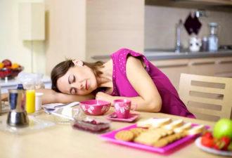 8 привычных продуктов, которые делают нас уставшими и сонными