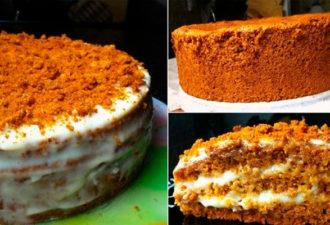Бисквитный торт «Медовый»: нежный, вкусный и приготовить легко