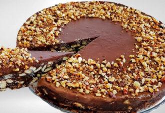 Самый простой и вкусный шоколадный торт без выпечки