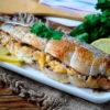Очаровательная запеченная скумбрия с орехово-сырной начинкой