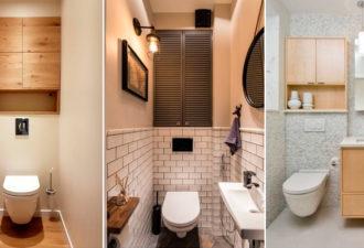 20+ идей функциональных и вместительных шкафчиков для туалетной комнаты
