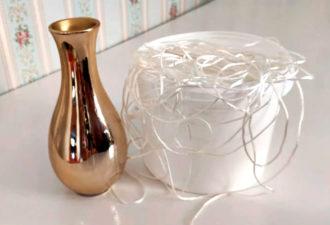 Взяла самую дешевую вазу и превратила ее в оригинальный и уютный декор