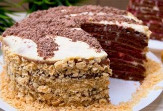 Торт на сковороде. Никакой духовки и раскатки коржей