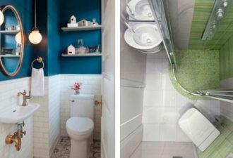 Хрущевский маленький туалет и что с ним можно сделать: 20 удобных и стильных идей