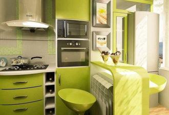 Кухня, объединенная с балконом: 40 интересных идей