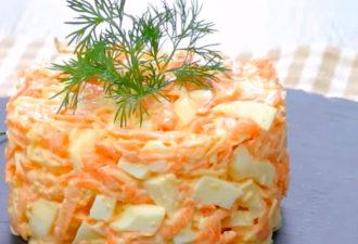 Праздничный салат за несколько минут