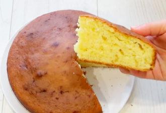 Быстрый и простой сметанный пирог