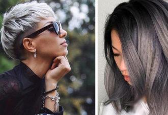 Цвет волос графит: модный тренд 2021