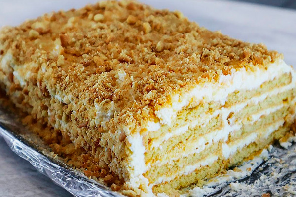 Вкуснейший торт с творожным кремом: Быстро и просто без выпечки