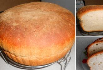 Вкусный домашний хлеб с хрустящей корочкой