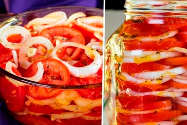 Медовая, ароматная и быстрая закуска из помидор