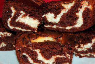 Нежный шоколадно-творожный пирог