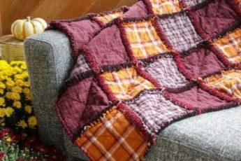 Одеяло из байковых рубашек