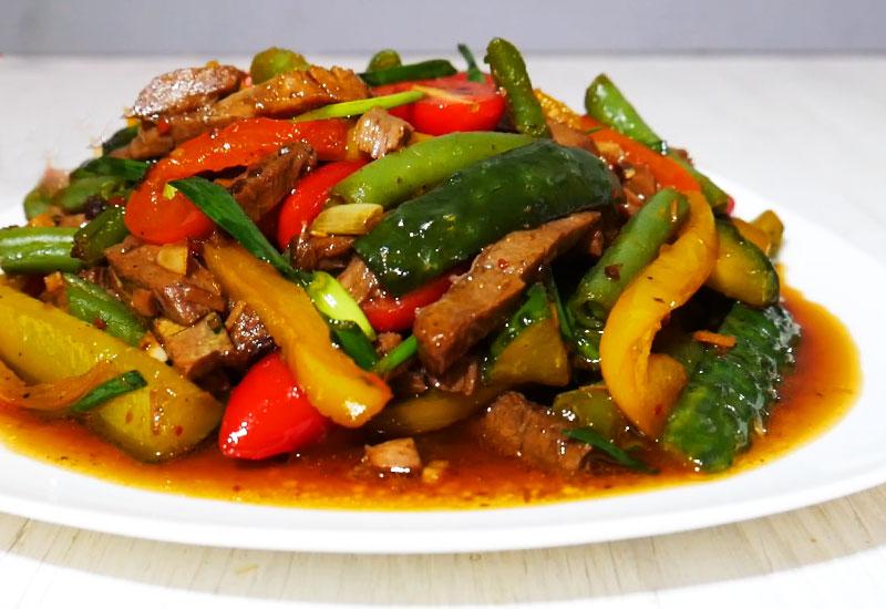 Теплый «Тайский салат»: очень вкусно