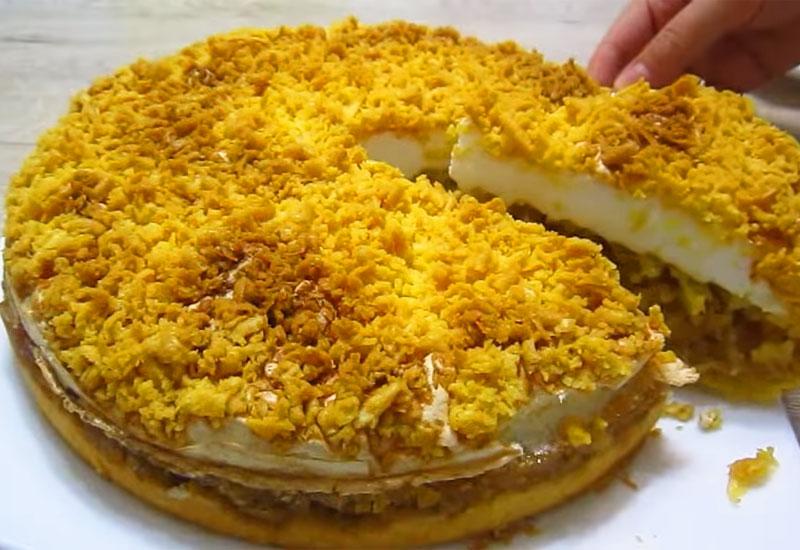 Яблочный пирог по-польски: рассыпчатое тесто и вкусная начинка