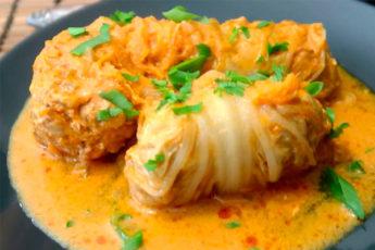 Голубцы из пекинской капусты. Получаются даже вкуснее, чем из белокочанной капусты