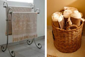 Идеи для удобного хранения полотенец в ванной комнате