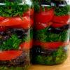 Главный салат на зиму: баклажаны с помидорами и зеленью в одной банке