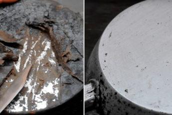 Как удалить полувековой нагар со сковороды несложным способом