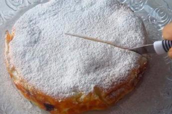 Красивый, необычный и очень вкусный пирог «Кружева»