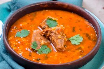 Суп Харчо — наваристый и острый