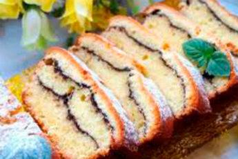 Вкусный, творожный кекс «Полосатый»