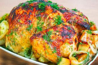 Курица в духовке под особым соусом