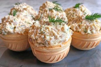 Тарталетки с грибной начинкой: легкая закуска на любой стол